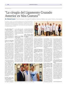 entrevista Dr. Leyes El Mundo