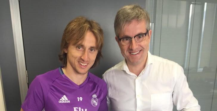 Luka Modric, jugador del Real Madrid CF. orgulloso del éxito de suoperación