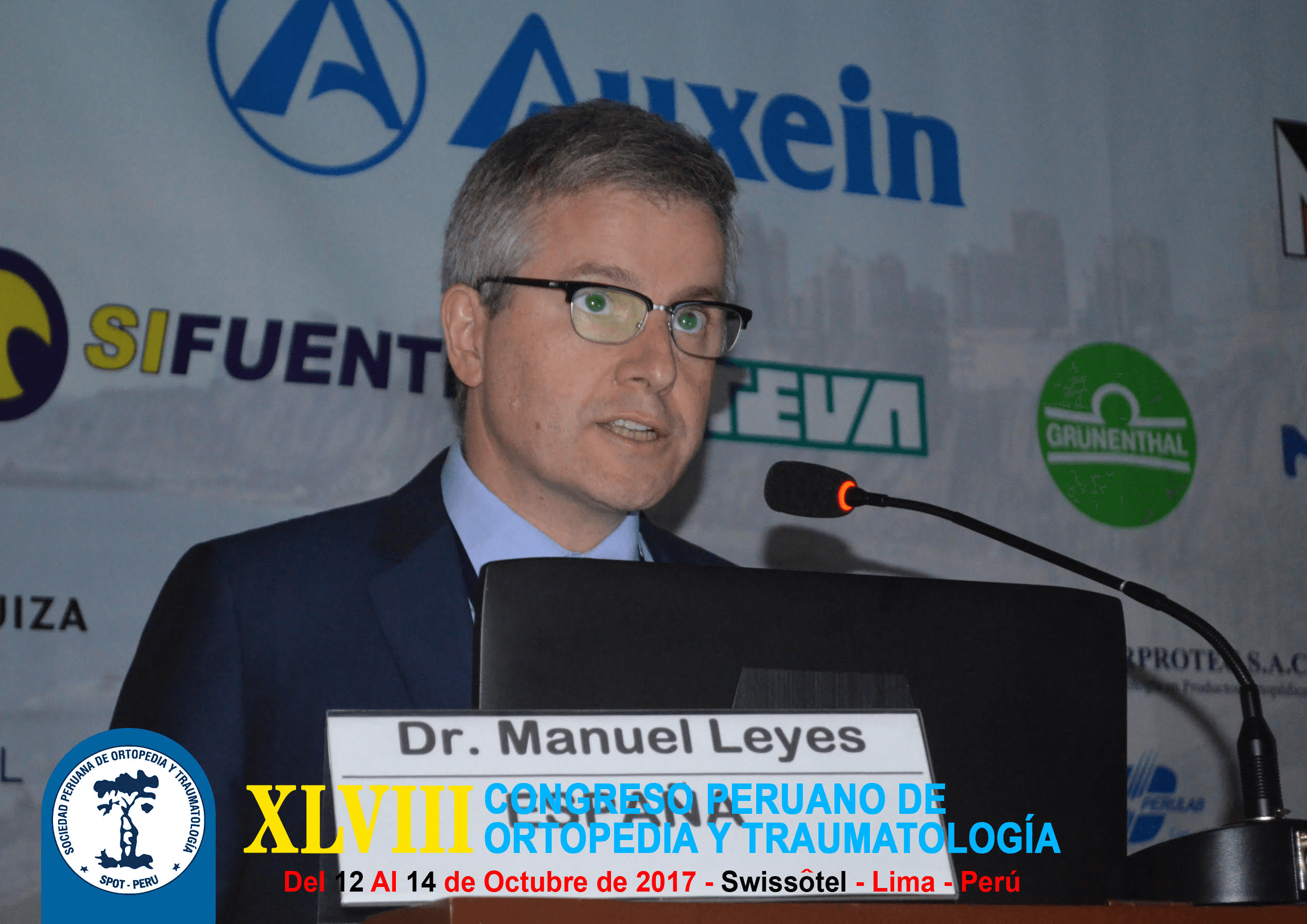El Dr. Manuel Leyes ha participado recientemente en el XLVIII Congreso Peruano de Ortopedia y Traumatología