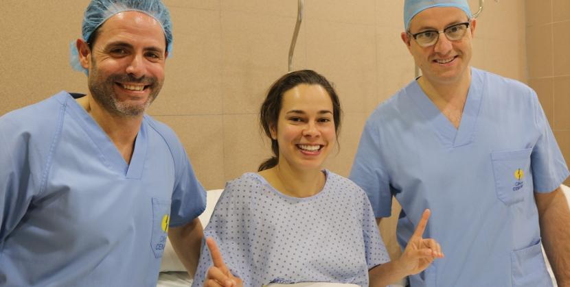 Ariane Nascimento da Silva operada de la rodilla izqda. por los Dres. Flores, Leyes yMartín