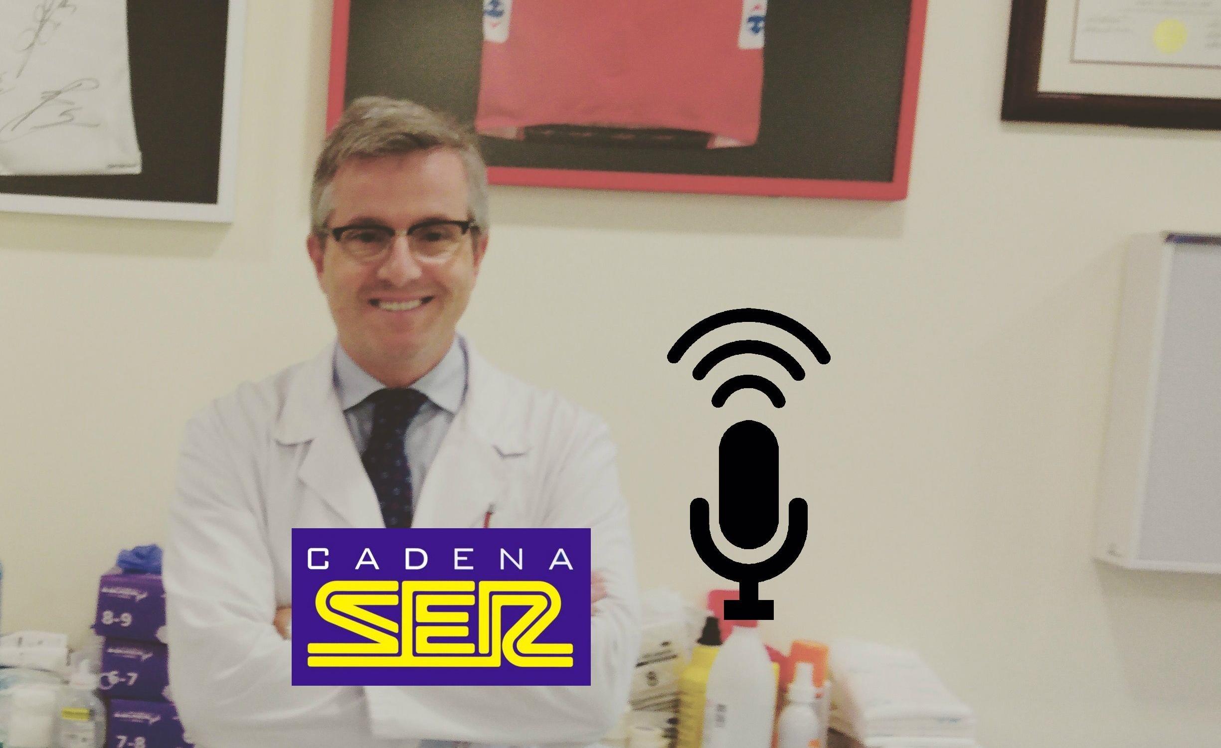 El Dr. Manuel Leyes habla en el programa 'La Gradería' de la SER, sobre la conveniencia de operar al futbolista Dembélé