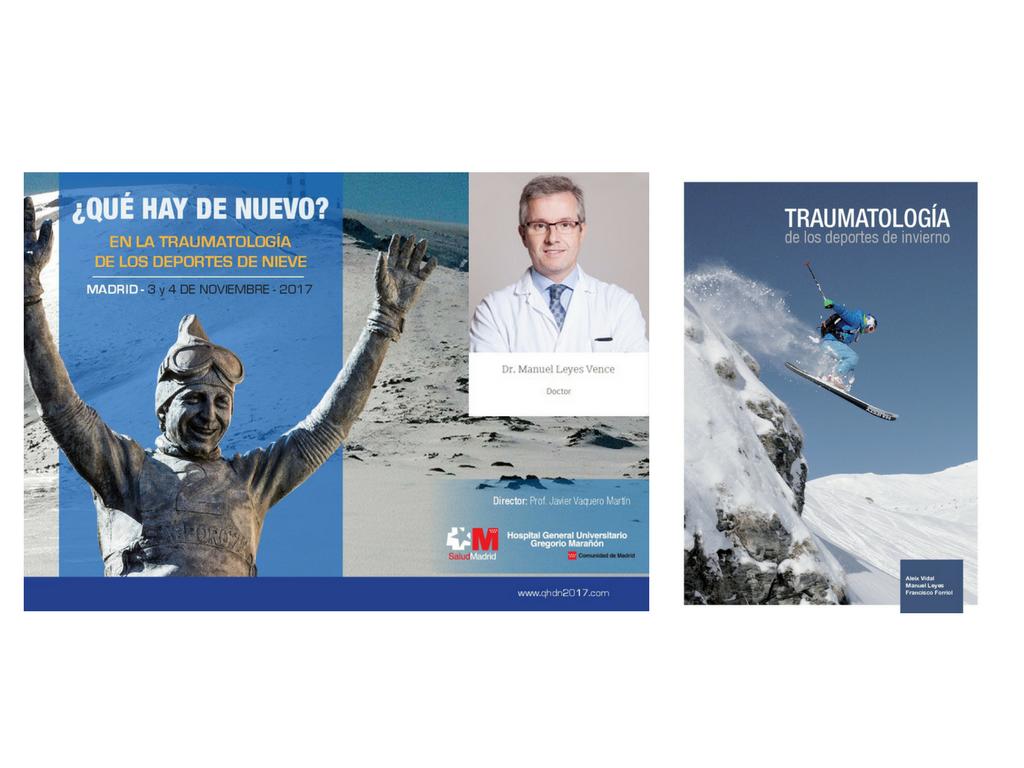 Ven a la presentación del libro '¿qué hay de nuevo? en la Traumatología de los Deportes de Nieve' en el que participa el Dr. Manuel Leyes